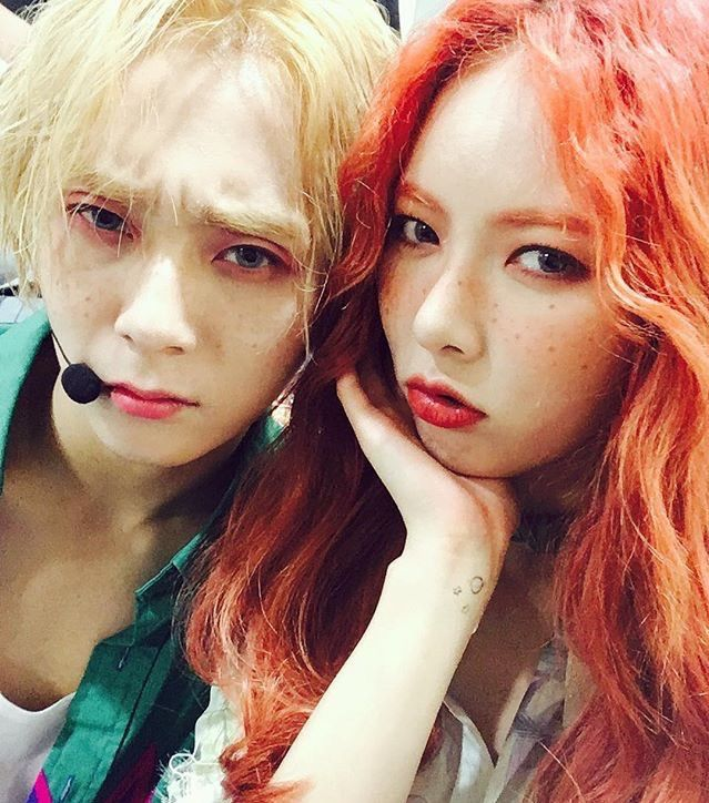 HYUNAGRAM Triple H - 2nd stage EDawn and Hyuna bts photo