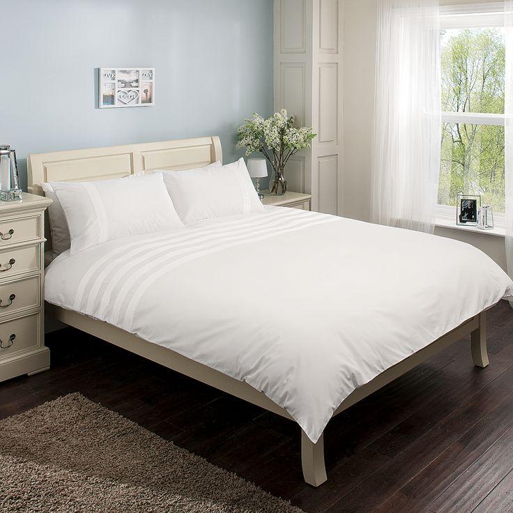 George Home White Pintuck Cuff Duvet Range | Bedding | ASDA direct