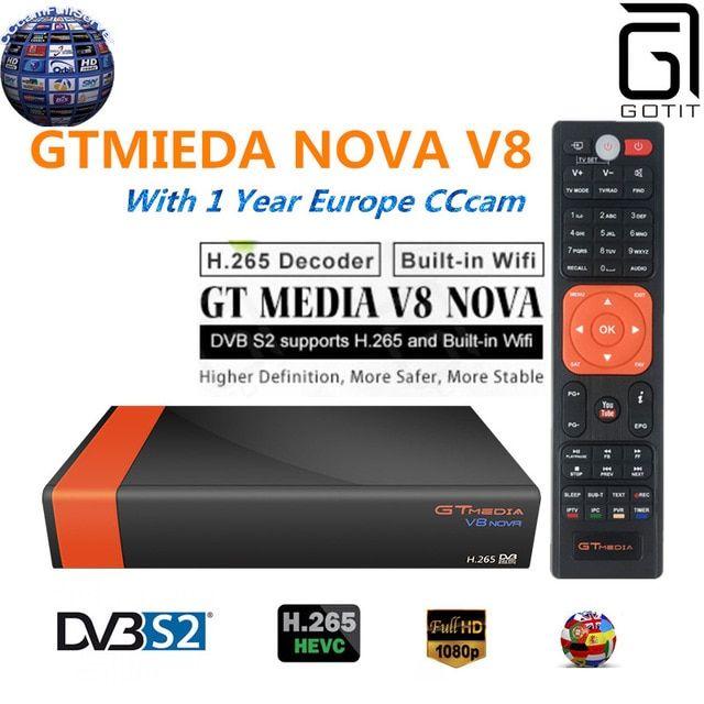 GT Media V8 Nova DVB-S2 Freesat Satellite Receiver V8 Super