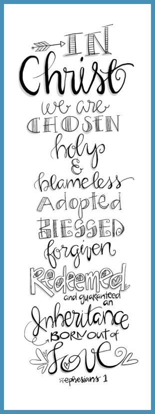 Christ chosen holy adopted blessed redeemed (Word templates)