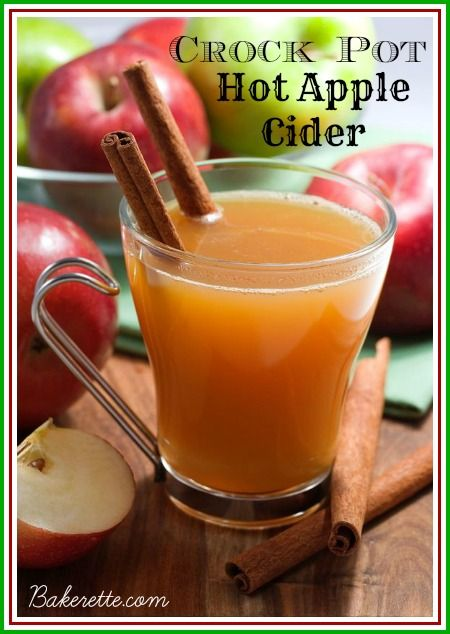 Crock Pot Apple Cider; bet it would keep your house smelling good all day!
