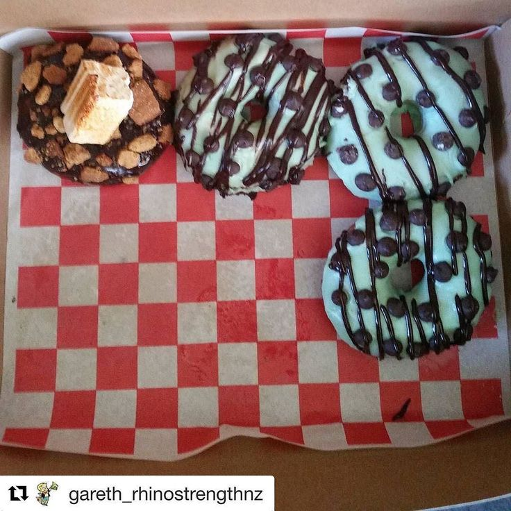 Lol they evaporated. Those peskie donuts!  Remember you can order them online and have them delivered to your door. Just hold on tight when you do get them. They tend to disappear.  . #Repost @gareth_rhinostrengthnz  Those Smores donut from @doornutsnz are ridiculous so much so 2 of them evaporated the minute the lid came off the box HA. . The mint choc chips aren't going to last very long either . .