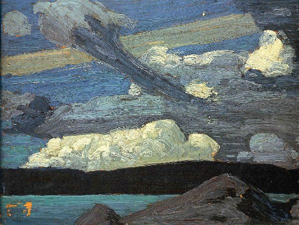 Tom Thomson (Canada, 1877-1917) – Clouds (The Zeppelins) (1915)