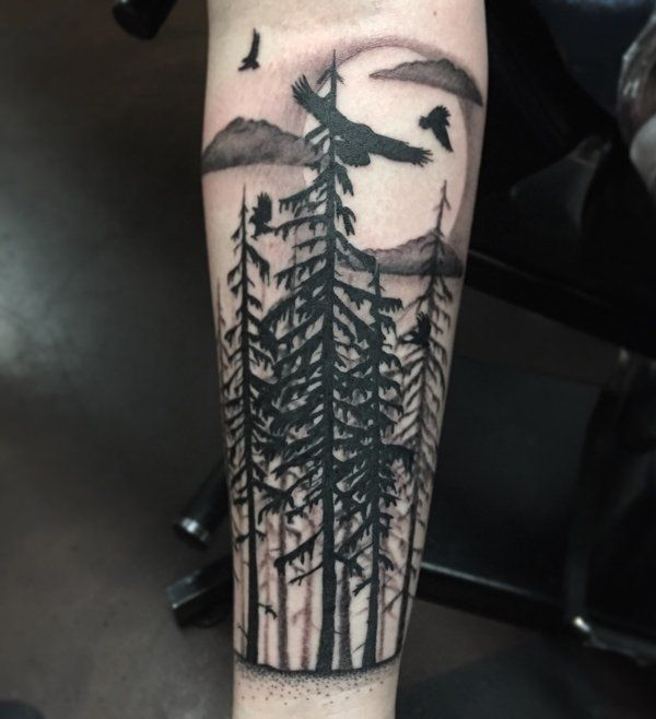45 inspirational forest tattoo ideas stand tall tattoo for Higher ground tattoo