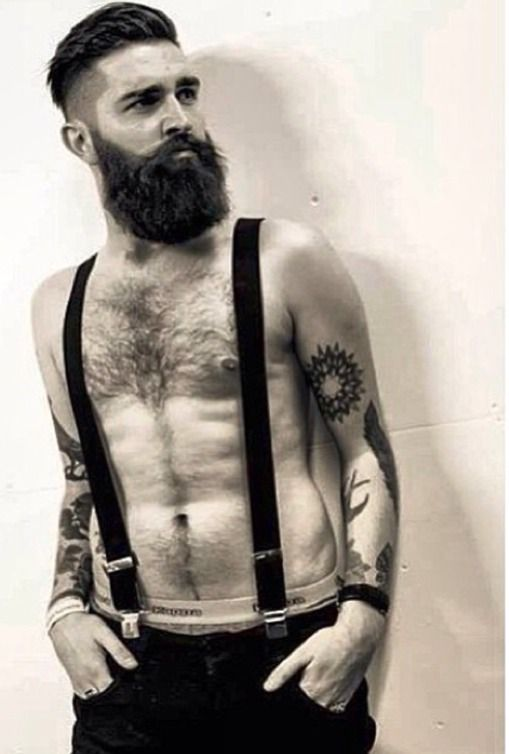 Beard+suspenders. -- Yo, @Candice Morano -- here's a bearded gent worth pinning. Follow to the board this came from. :)