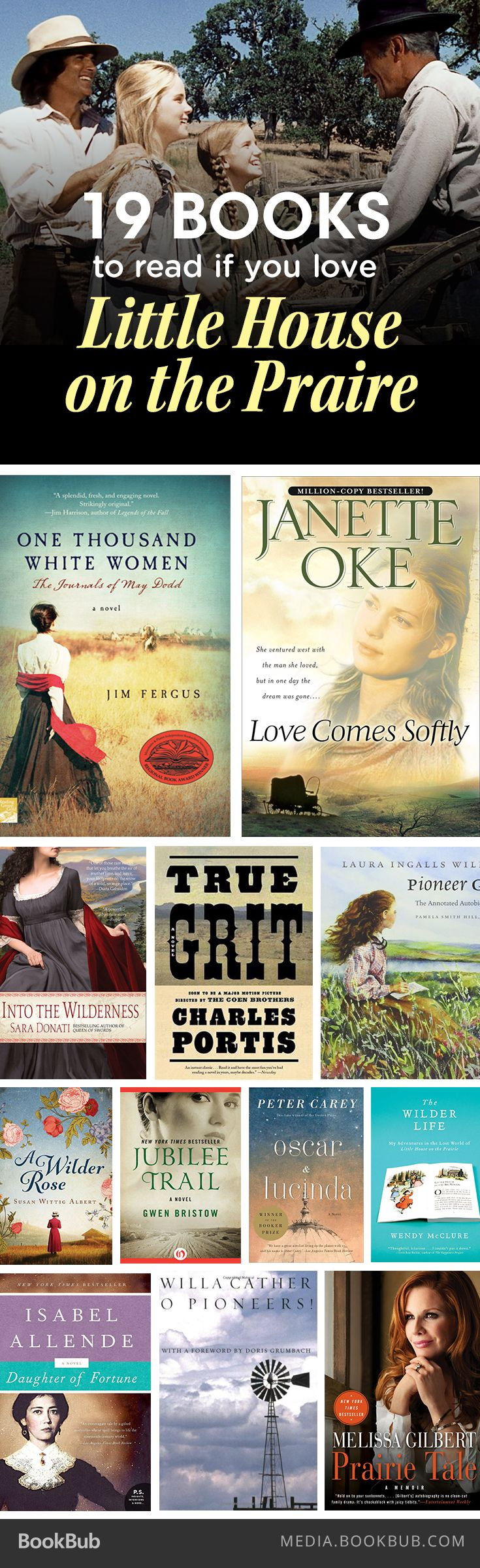 19 books to read if you love Laura Ingalls Wilder's Little House on the Prairie.