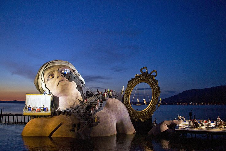 This is definitely on my bucket list. The Floating Sets of Berganz Festival