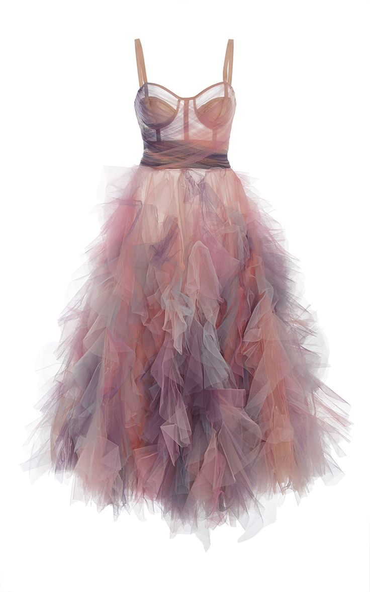 Ruffled cocktail dress by Marchesa