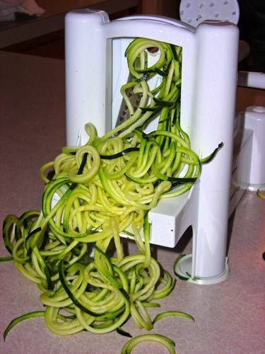 Spiral vegetables are so versatile. You can use them raw in salads, stir fried with your favorite protein, or steamed under your pasta sauce. They are the best low carb alternative to pasta.  I absolutely love my Paderno World Cuisine Spiralizer.  It is quick and easy to use.