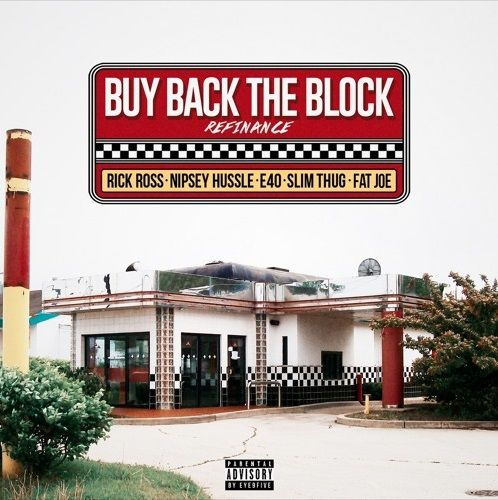 "With his new album Rather You Than Me out March 17th, Rick Ross lets his ""Buy Back The Block"" remix, or 'Refinance', fly. He's joined by Nipsey Hussle (he snaps), Slim Thug, E-40 and Fat Joe over the 808 Mafia production.