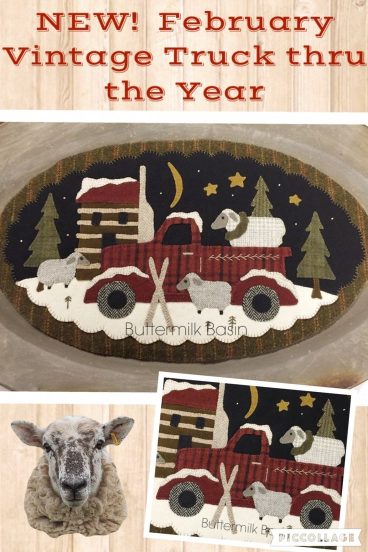 Vintage Truck thru the Year February Kit & Pattern