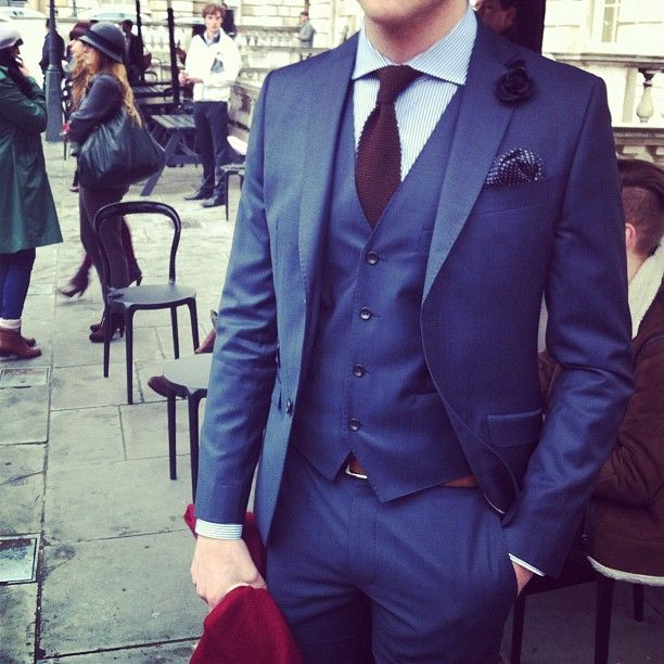 I love the deep saturated blue this spring.  From London Fashion Week courtesy of Mr. Porter.