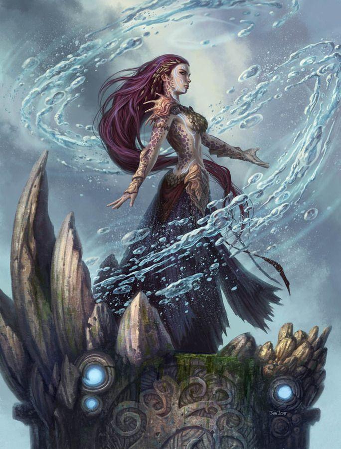 Fanthom Mage By Dan Scott Fantasie Pinterest Fantasy Art