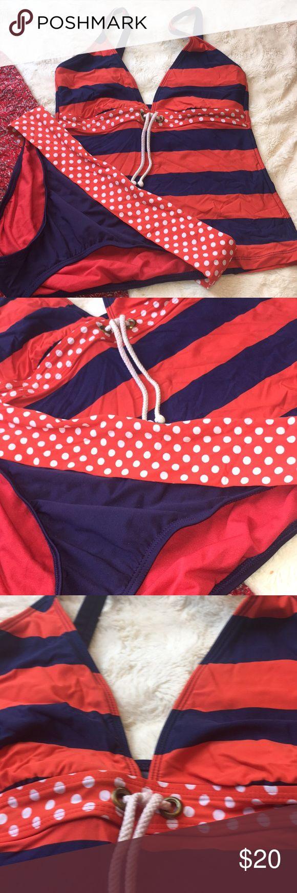 Womens Tankini Swimsuit Size 14 Tommy Hilfiger Swim