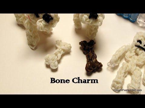 How to make Bone Charm -Rainbow Loom - Minecraft Series - YouTube