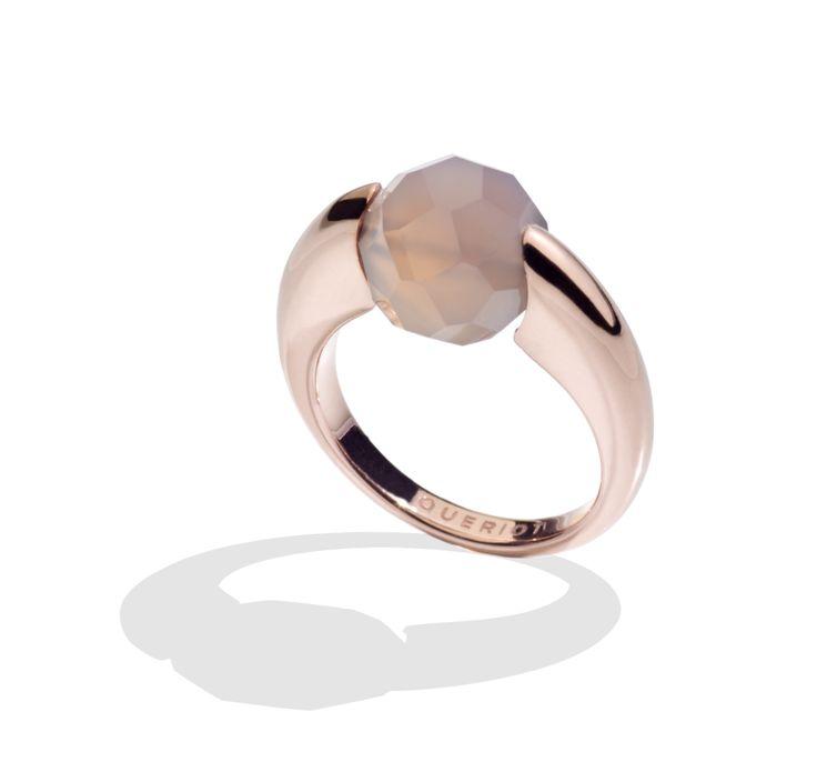 Agata grigia grey queriot anello ring gioiello jewellery oro rosa rose gold fashion luxury women gift