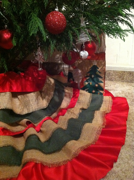 Handmade Tree Skirt Approximately 60inch Diameter By KimDBoutique 7500