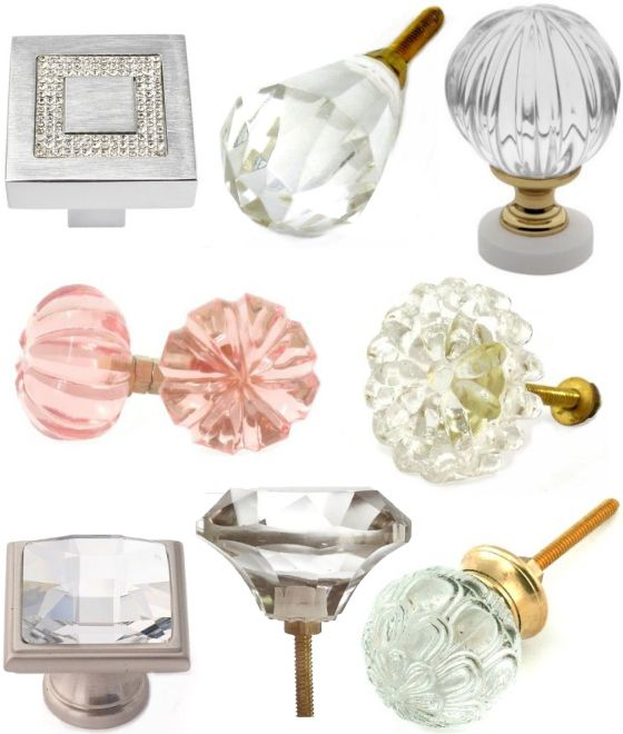 Crystal door/drawer knobs for the dresser next year!!