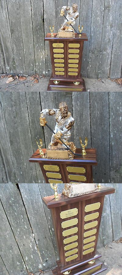 Other Ice and Roller Hockey 2911: 2017 Version Perpetual Fantasy Monster Hockey Trophy Award -> BUY IT NOW ONLY: $69.69 on eBay!