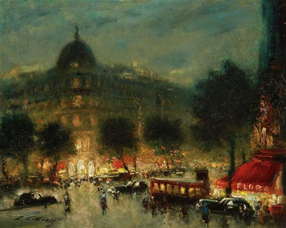 Ludolfs Liberts, Boulevard Haussmann Paris at Night #ludolfsliberts