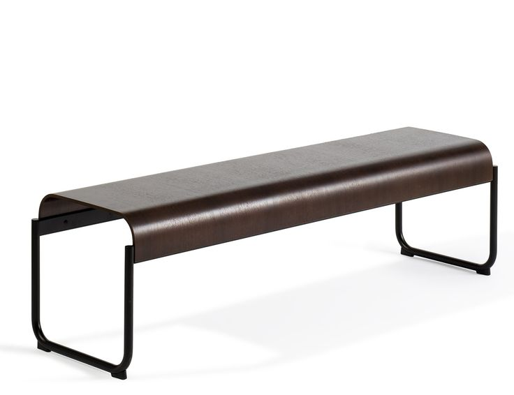 Toboggan Bench:  A 2-3 person bench, the Toboggan bench can define a setting or serve as supporting players in private offices, open plan workstations and Activity Spaces.  The flat surface works as a casual seat or an occasional table in lounge settings. The contoured sides allow you to sit facing outward or straddle the seat to use it as an impromptu work surface. For longer term use, pair them with the Toboggan pull up table or a desk height table | Knoll