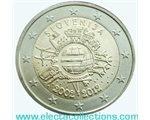 Slovenia - 2 Euro, dieci anni delle monete e banconote in euro, 2012
