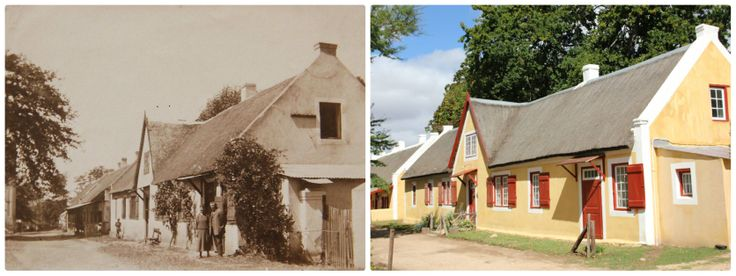 Genadendal Moravian Church Parsonage (built in 1824) - 2 photos of 1940  today - just outside Greyton, Overberg, Western Cape - South Africa