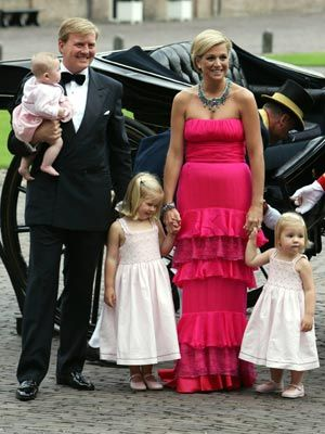 Prince Willem-Alexander and Princess Maxima of the Netherlands and their three daughters