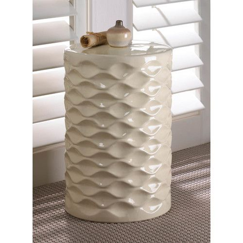 Found it at Wayfair - Faceted Ceramic Stool