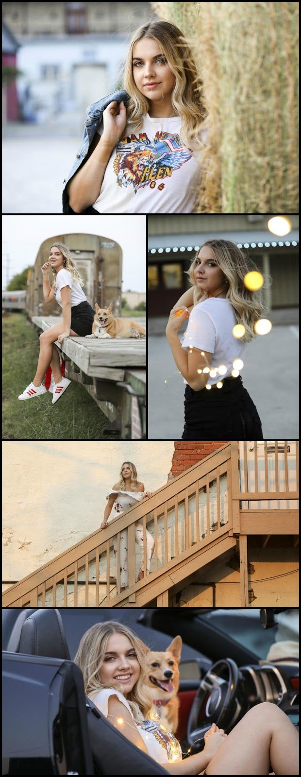 click for Senior Picture ideas girl, posing, dog, urban, park, country, city, clothes, creative, different, what to wear, beautiful