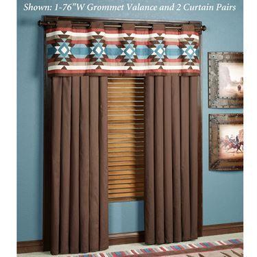 Frontier Grommet Curtain Pair Chocolate 84 x 84