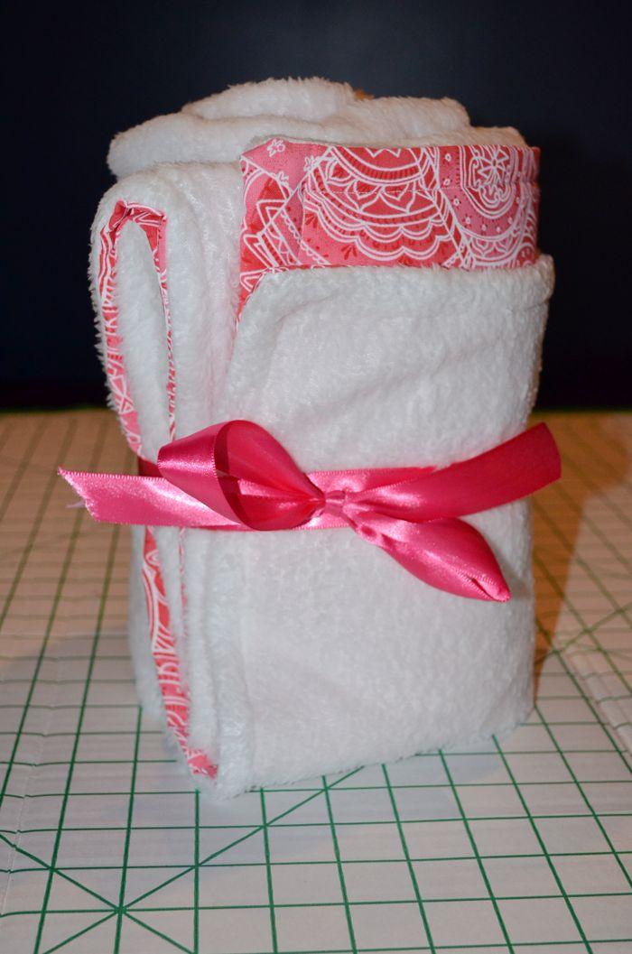 Easy Warm Diy Monogrammed Baby Blanket Diy Done