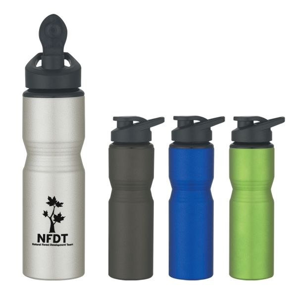 Download Offered In Several Matte Colors To Choose From This 28 Oz Aluminum Sports Bottle Features A Black Screw On Spill Resistant Sport Bottle Bottle Water Bottle