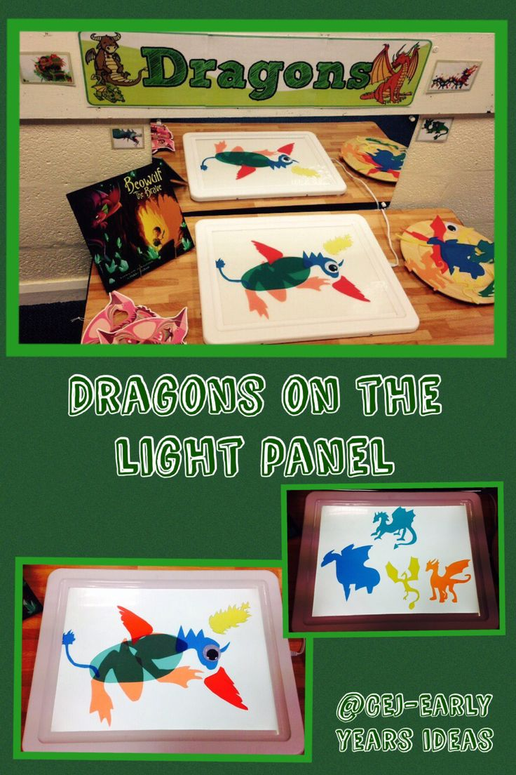 Dragons on the light panel