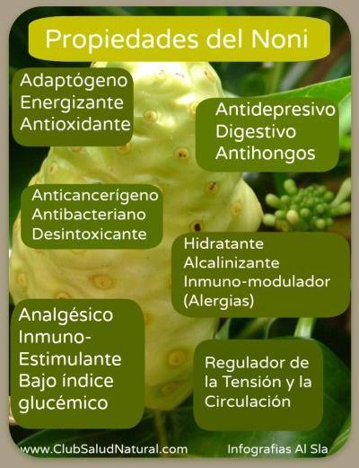 Propiedades y Componentes del Noni - Club Salud Natural