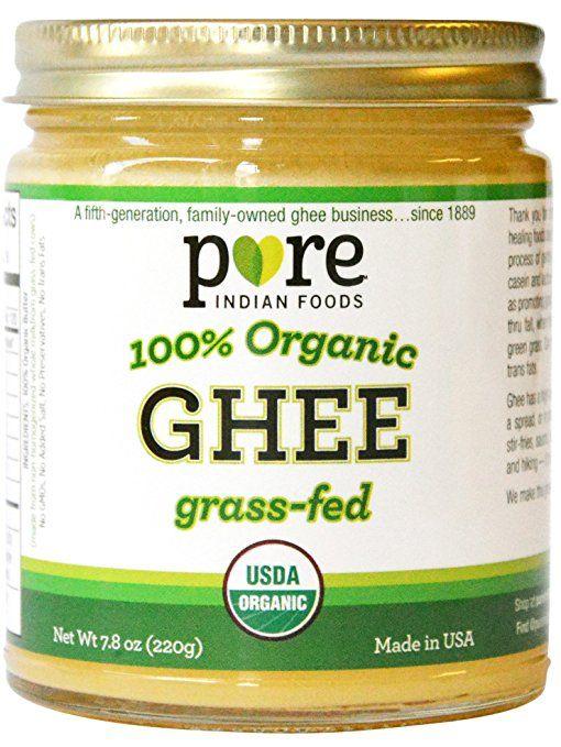 Grassfed Organic Ghee 7.8 Oz - Pure Indian Foods(R) Brand