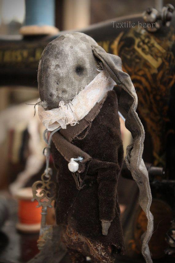 Bessis The Keeper of secrets rabbit toy rag by IrinaSTextileheart