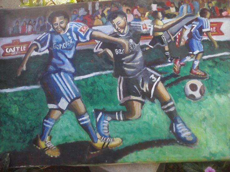 Soccer - Oil painting on canvas