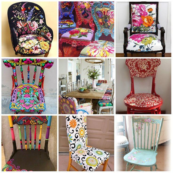 Цветочный тренд в дизайне мебели. #модныестулья #моднаямебель #дизайнерскаямебель