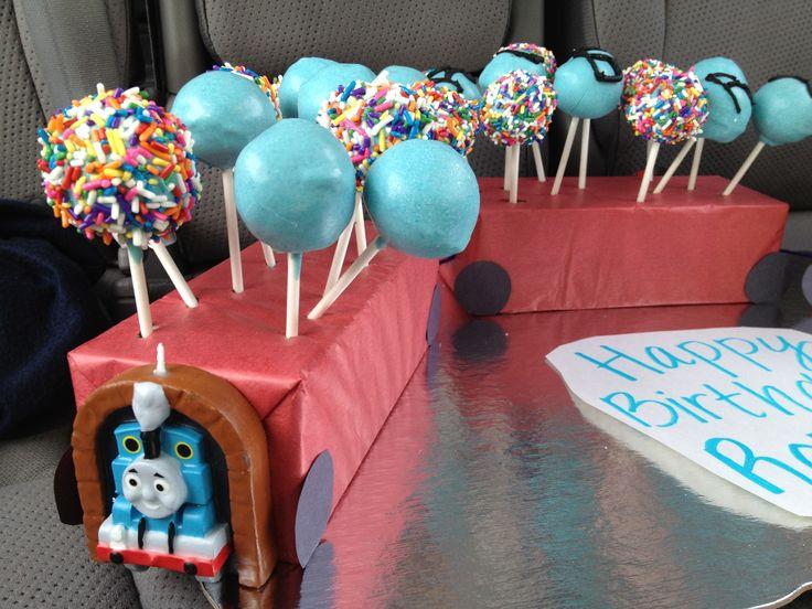 Cake Pops for 4 yearold boy's birthday Birthday Party