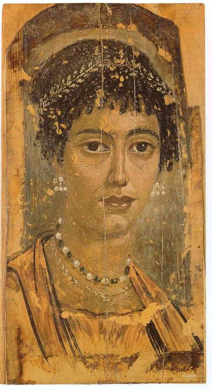 an analysis of the mummy portrait of a man from fayum region in egypt