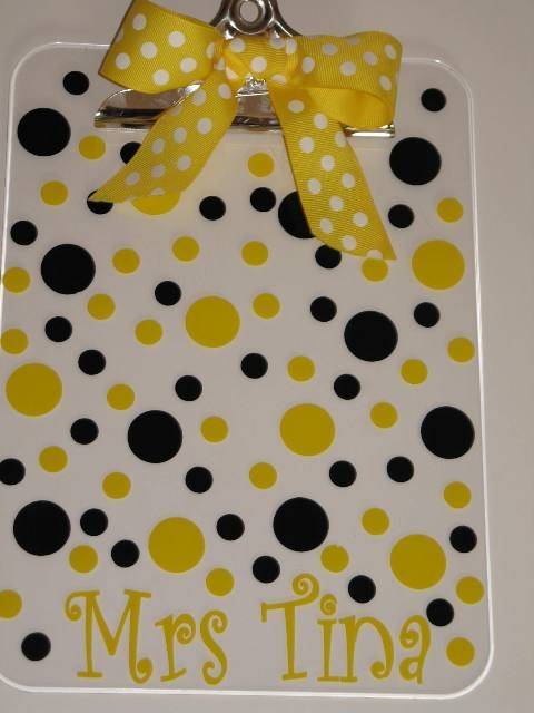Personalized Clipboard-acrylic clipboard, personalized, monogram, teacher gift, co-worker gift, vinyl, monogram clipboard, personalized clipboard, clipboard, school supplies, cool school supplies