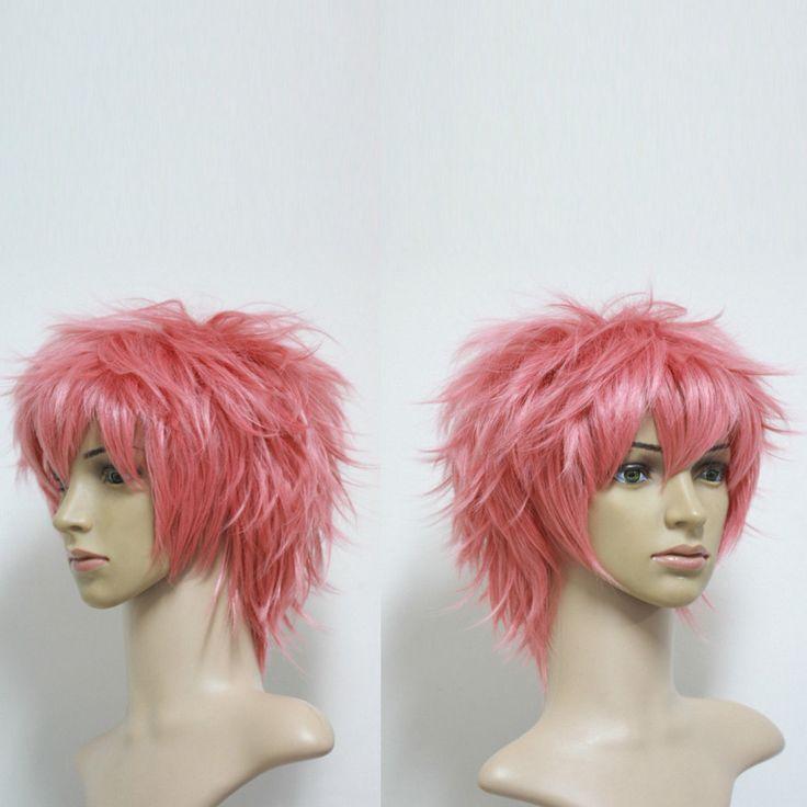 Ао нет изгоняющий дьявола шима Renzou косплей костюм хэллоуина мужчин короткие розовый слоистых парик