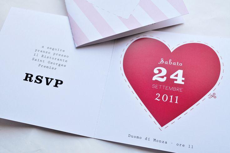 Oggi matrimonio a righe! Tante gradazioni di colore a disposizione! su Etsy! https://www.etsy.com/it/listing/227775685/partecipazione-matrimonio-righe-11x11-cm?ref=shop_home_feat_4