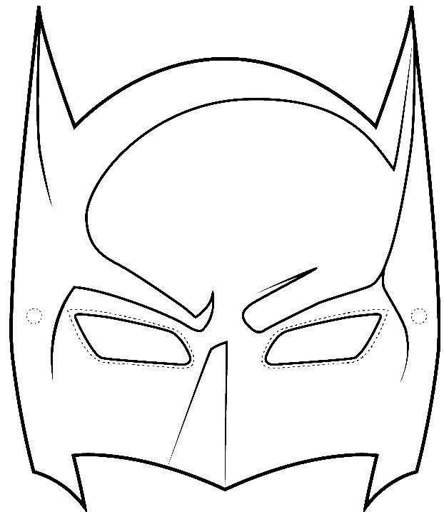 Free Batman Mask Template