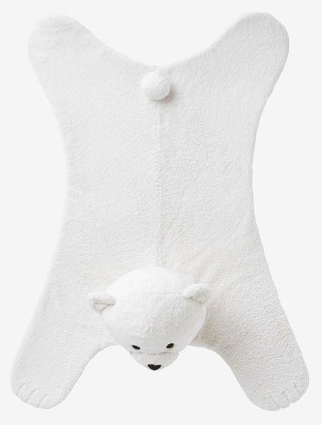 Tapis imitation fourrure Mon Ours Polaire - Blanc - 1