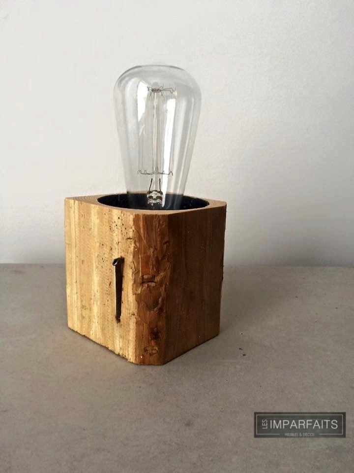 Lumière en bois recyclé #LesImparfaits
