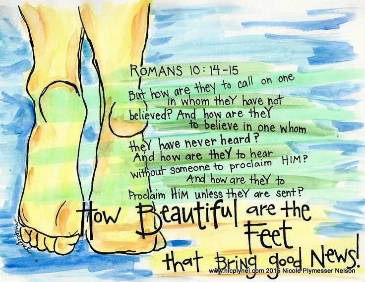 Romans 10:14-15 Beautiful Feet by Nicole Plymesser Nelson