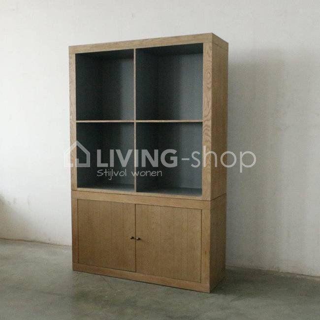 Bibliothèque ouverte, armoire Fjord en chêne Rogiers meubles @ www.LIVING-shop.fr boutique en ligne