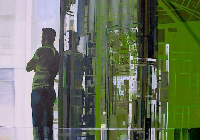 Giorgos saltaferos, acrylics on canvas, 70x100cm,2012
